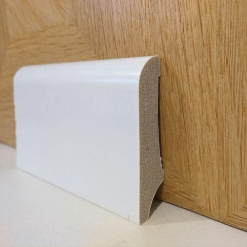 """פנל פולימרי לבן לפרקט מעוגל 6 עד 8 ס""""מ"""