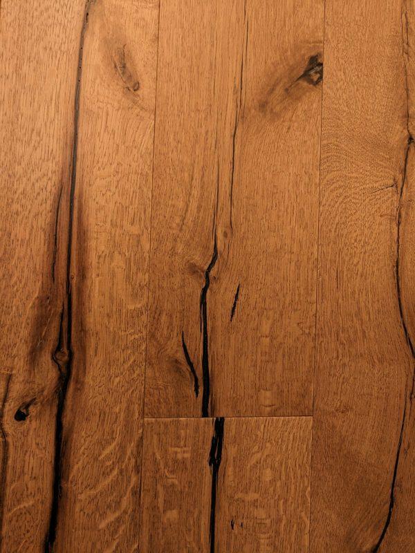 פרקט עץ אלון מבוקע מעושן