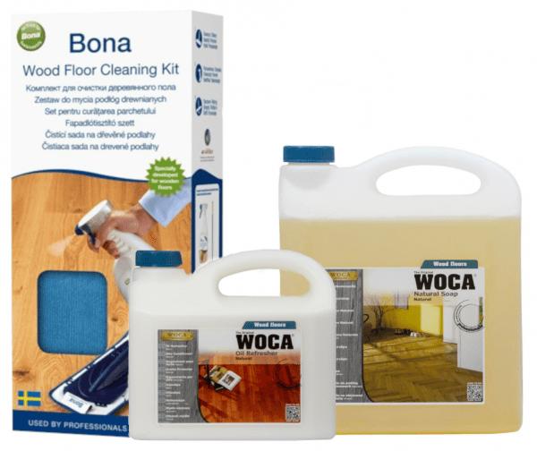 חבילת נקיון לפרקט עץ בגמר שמן (WOCA) – ערכה,סבון,מרענן