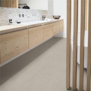 אריחי בטון ,פרקט למינציה מראה בטון לבן גרניט  100% עמיד במים
