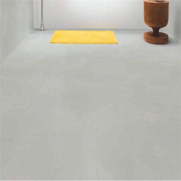 אריחי בטון ,פרקט למינציה מראה בטון אפור עדין חלק  100% עמיד במים