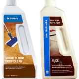 """חבילה לניקוי הפרקט עץ בגמר שמן  ד""""ר שוטץ (Dr Schutz) סבון, שמן תחזוקה"""