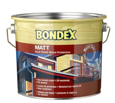 BONDEX צבע מגן לעץ חיצוני בגוון בונדקס מט 2.5L או 0.75L